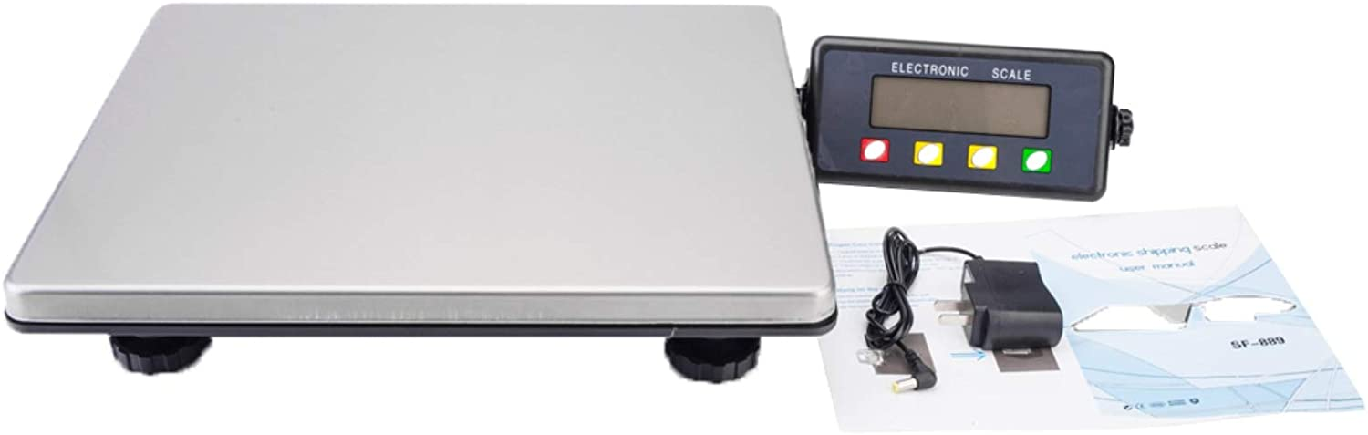 200kg / 50g Digital Postal Scale Silver & Black Postal Weight,Piece Counting, Wide Weighing Pan, Multiple Weight Unit