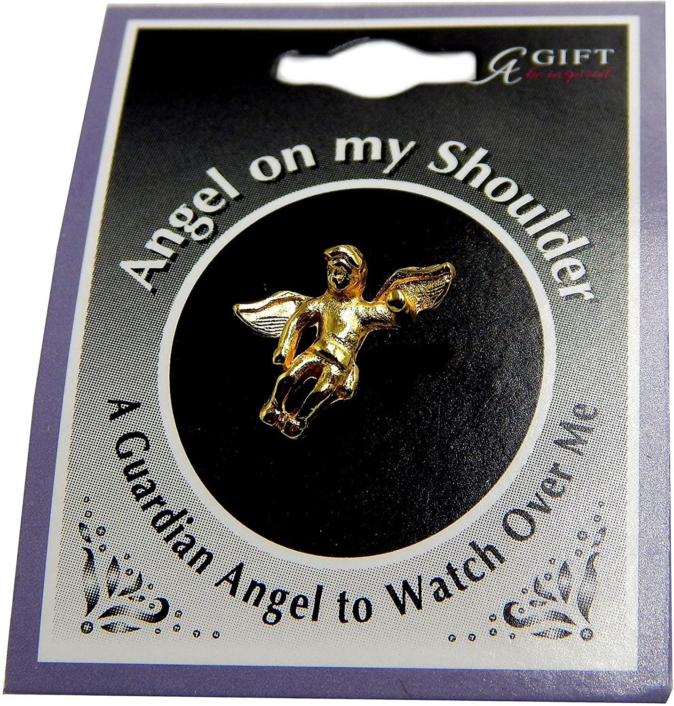 CAG Bulk Set of Twelve Guardian Angel Pins On My Shoulder - Angel Lapel Pins - Inspirational 0.5