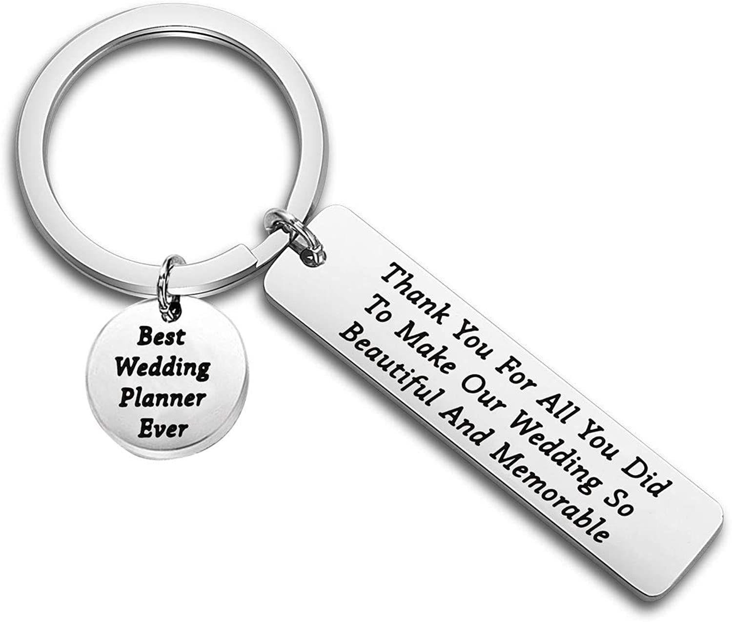 Lywjyb Birdgot Wedding Planner Gift Wedding Planner Thank You Gift Thank You for All You Did to Make Our Wedding So Beautiful and Memorable Appreciation Keychain