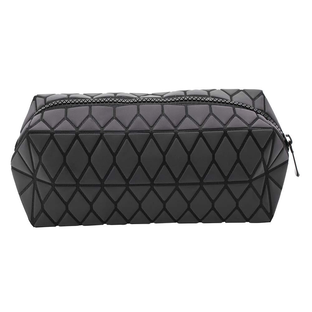 Geometric Rhombic Cosmetic Bag, Handbag Luminous Irregular Storage Case Small Make Up Bag Portable Bag Travel Foldable Makeup Bag Toiletry Cosmetic Portable Organizer