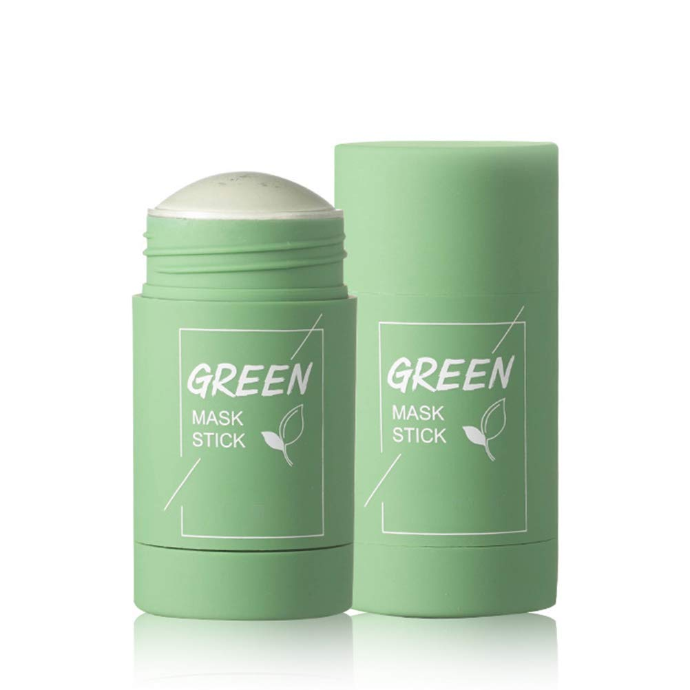 Green Tea Purifying Clay Stick Mask, Oil Control Anti-Acne Solid Mask Deep Cleaning Moisturizing Mask Clay