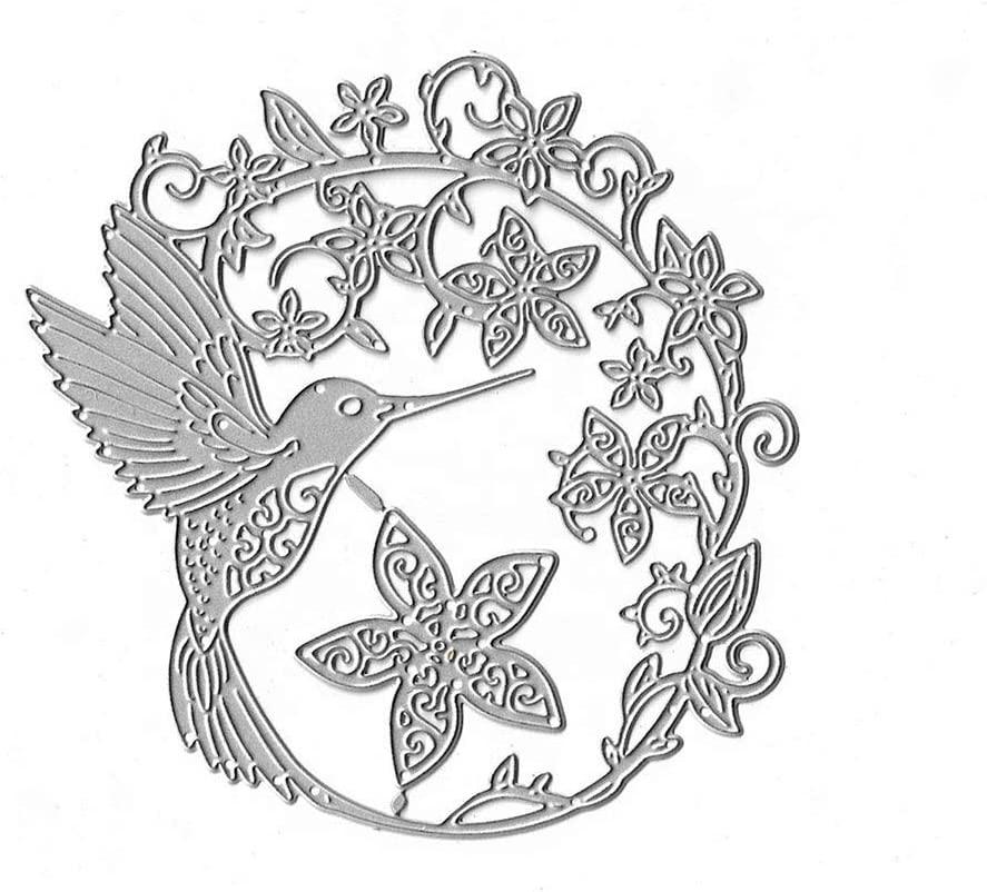 Bird Lace Flower Hollow Border Dies DIY Greeting Card Scrapbook Embossing Metal Cutting Dies Stencil