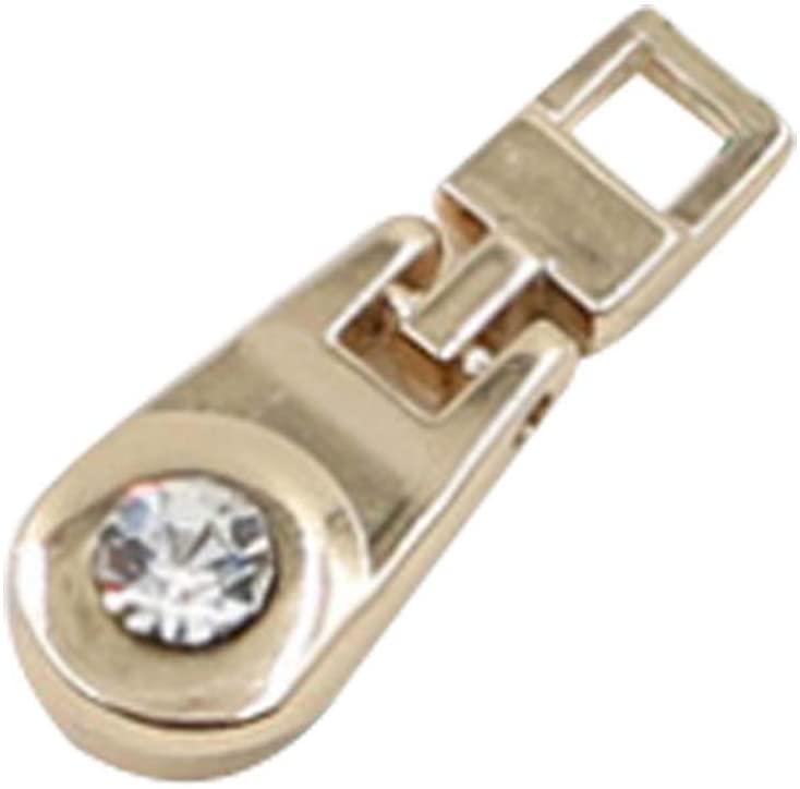 PANDA SUPERSTORE 10 Pcs Metal Zipper Head Zipper Replacement Zipper Repair Kit Solution Slider #5