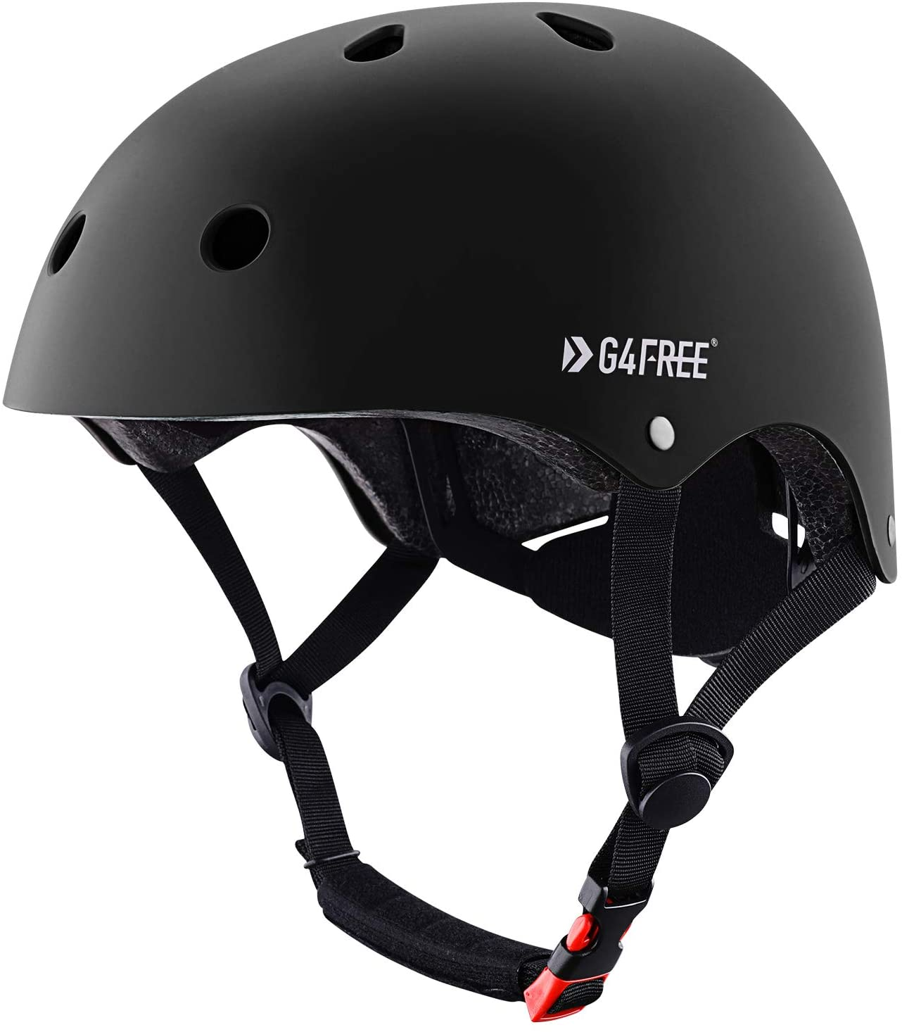 G4Free Skateboard Helmet CPSC Certified Bike Helmet for Kids Adults Women Men Durable Impact Resistance Multi Sports Roller Skate Cycling Scooters
