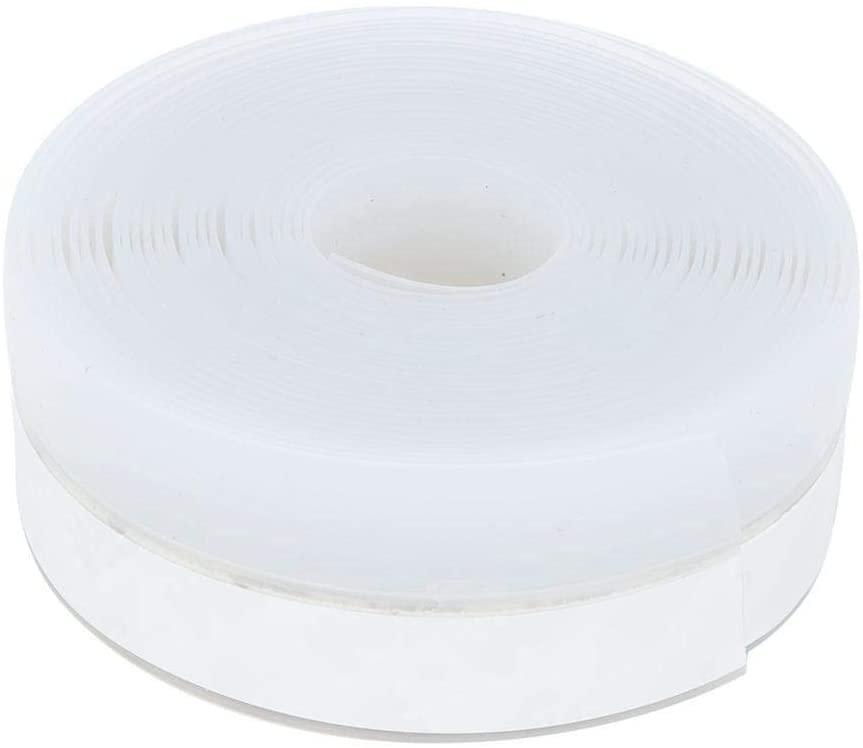 Topzon Silicone Seal Strip - Door Window Self Adhesive Weather Stripping Silicone Seal Sweep Strip Draft Blocker (25mm5m(白色/米白随机))