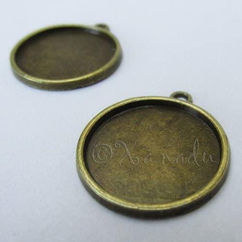 Charm - Jewelry - Pendant - Cabochon Settings Fit 10 pcs