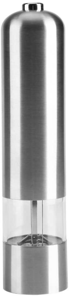 Stainless Steel Electric Pepper Grinder, Adjustable black pepper Salt Mills Battery Powered