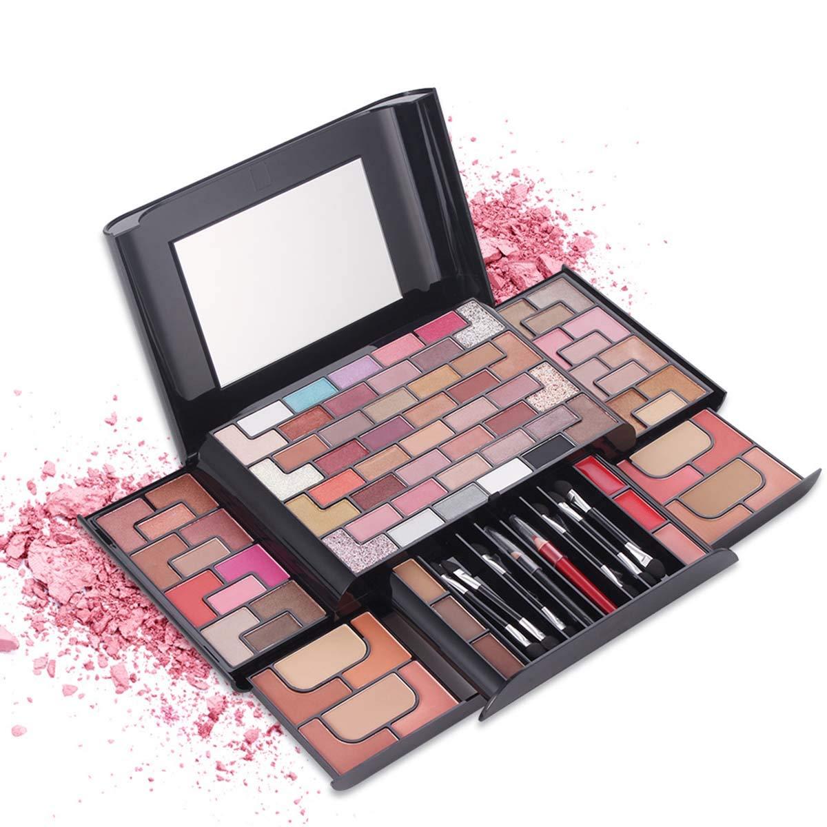 Gojiny Beauty Makeup Kit Professional Makeup Set Eye Shadow Pallet Lipstick Blush Brushes Multifunctional Cosmetic Tool-86 Colors (7002-379N)