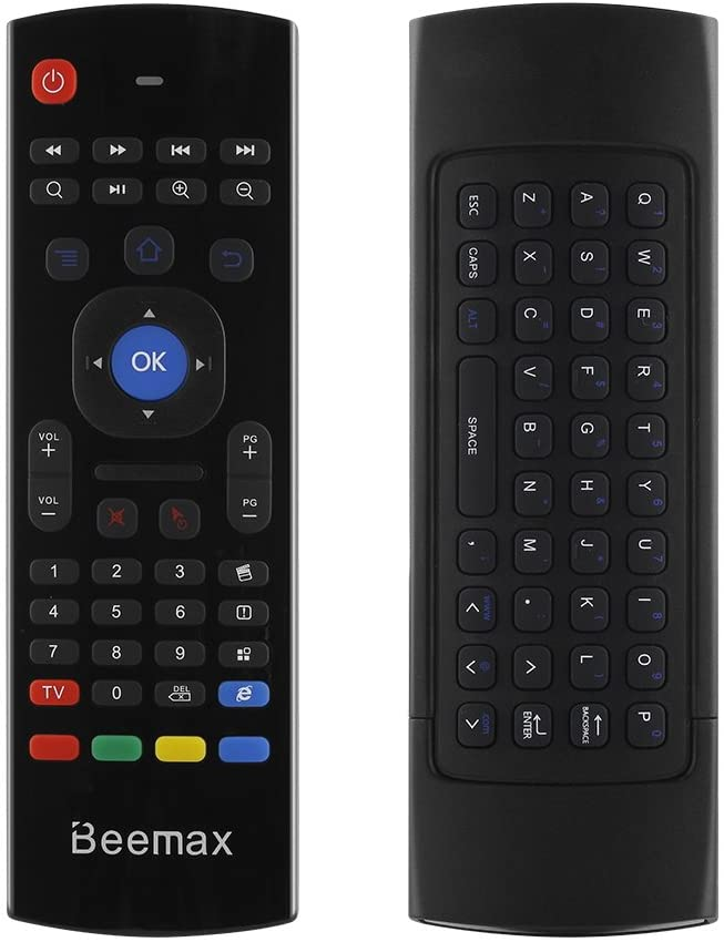 MX3 Fly Air Mouse Remote with Keyboard AMGUR 2.4G Mini Wireless Keyboard Air Mouse Combos IR Learning Remote Control for Android TV Box Raspberry Pi, PS3,PS4,XBOX 360, Mini PC, Google Smart TV Remote