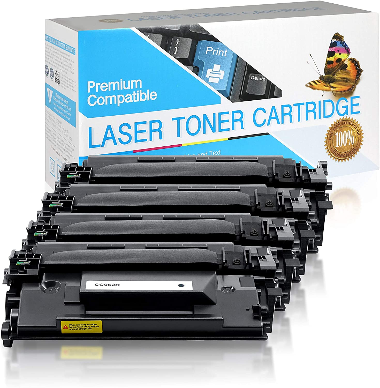 USA Advantage Compatible Toner Cartridge Replacement for Canon 052H / 2200C001 (High Yield Black,4 Pack)