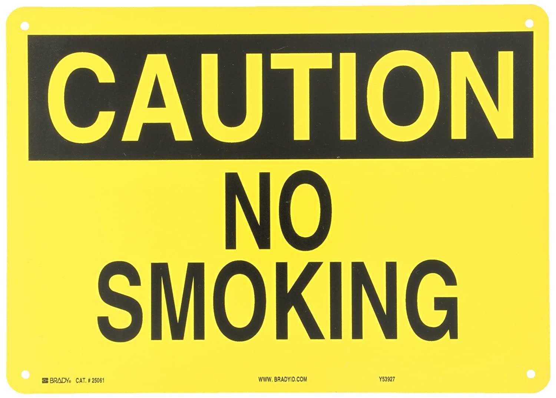 Brady 25061 Plastic No Smoking Sign, 10