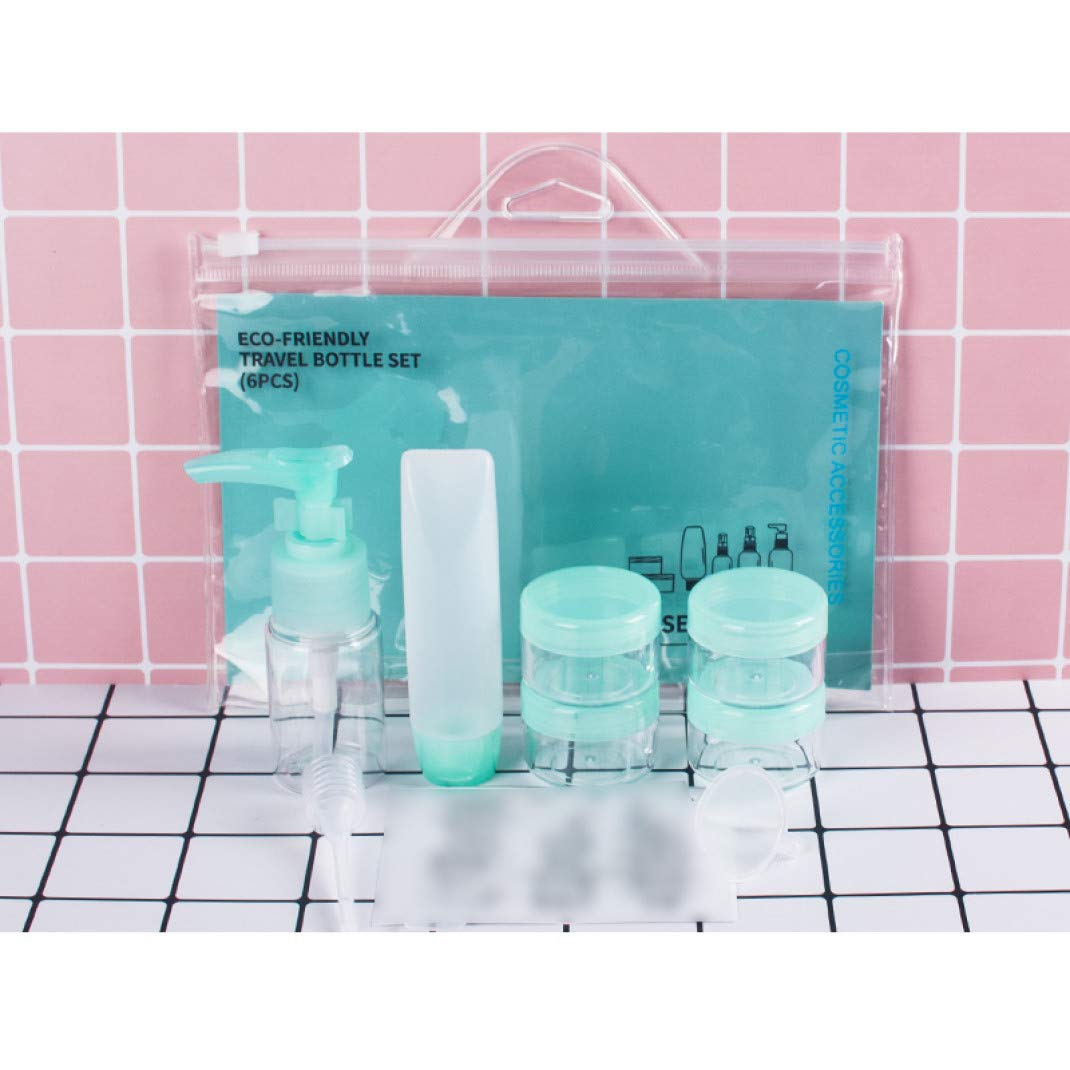 Travel Size Toiletries Plastic Bottles Set Refillable Fine Mist Perfume Spray Bottle Clear Cosmetic Containers