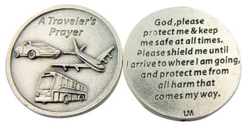 Religious Catholic Gift A Travelers Prayer God Protect and Shield Me Pocket Token