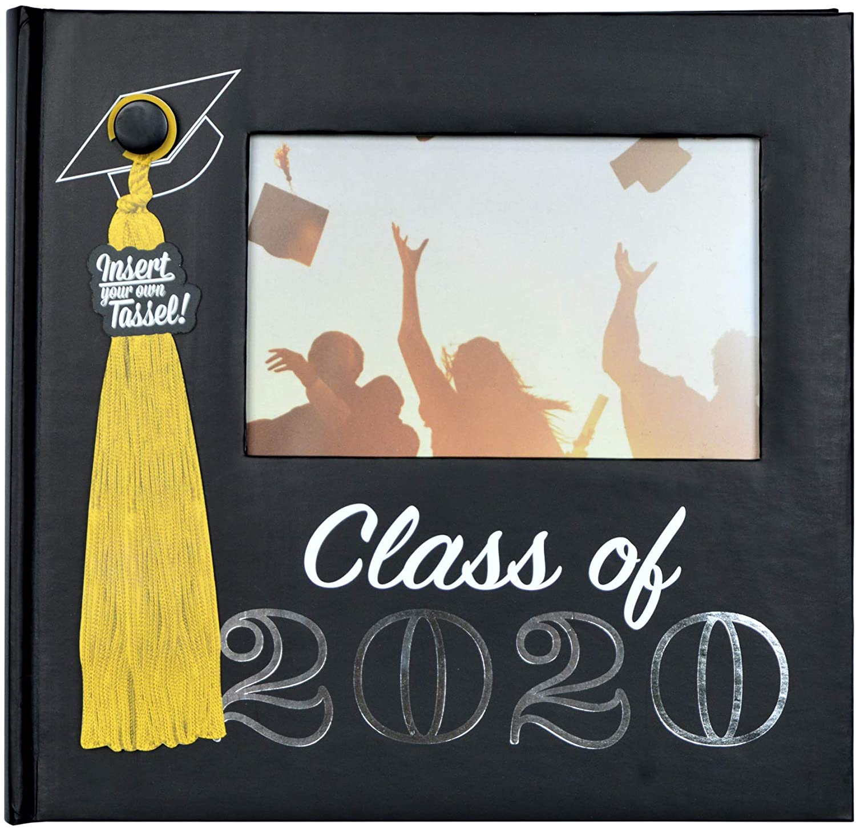 PRINZ Black Graduation Class of 2020 Photo Album with Tassel Holder