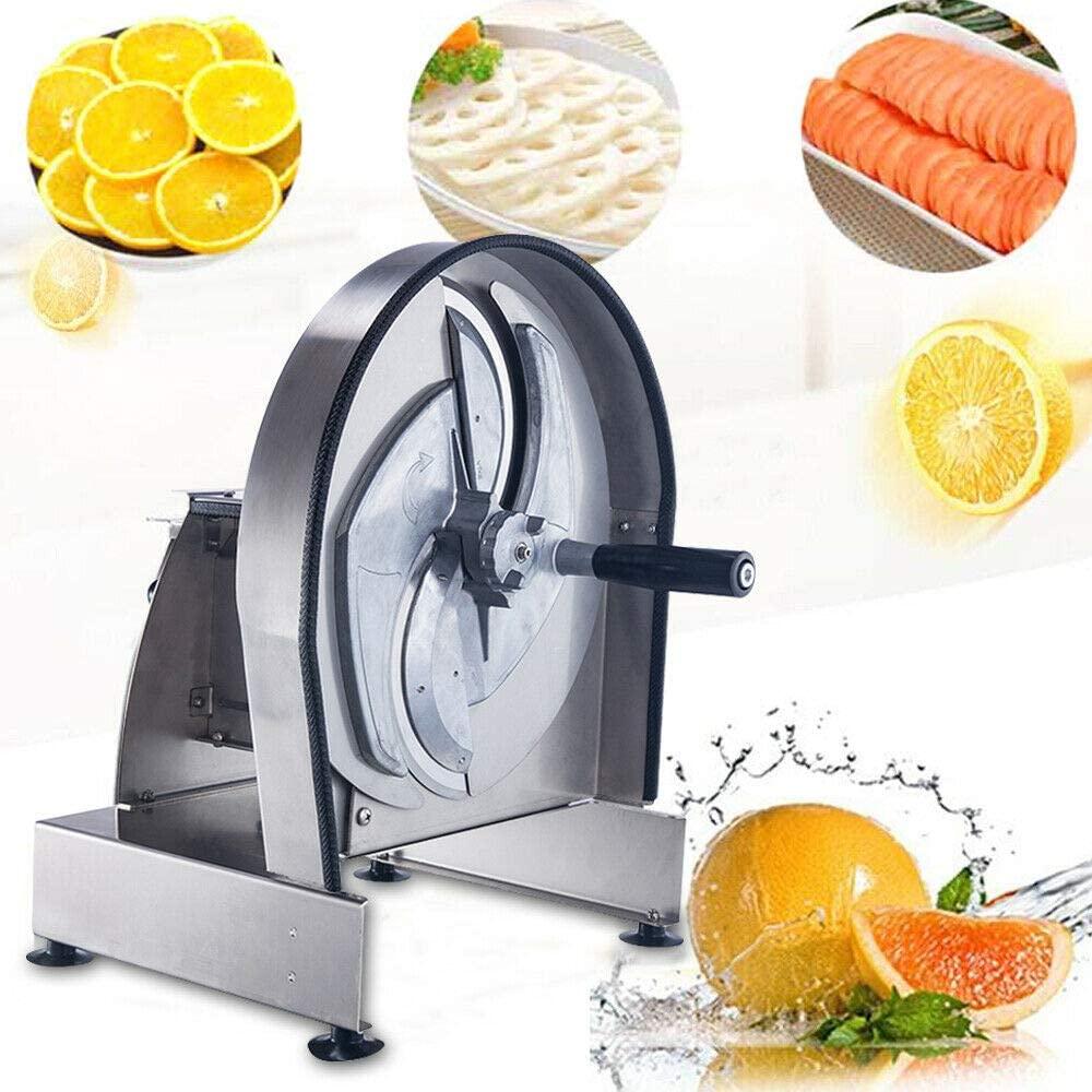 Manual Fruit Vegetable Slicer Cutting Machine Multifunctional Vegetable Fruit Slicer Commercial Manual Onion Fruit Vegetable Cutter Slicer Thickness Adjustable Cutter