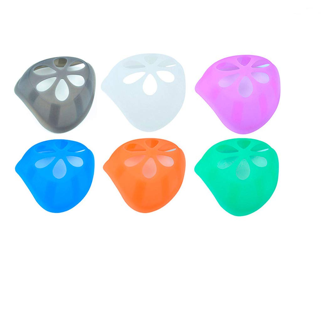Tamquer Food Grade Silicone Face Madks Holder Internal Support Holder Frame Nose Breathing Smoothly Protect Lipstick Lips DIY Face Bandanas Accessories