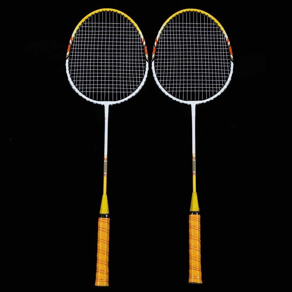 Lightweight Training Racquets Double Rackets Badminton Racquets for Improves The Stability of The Shot
