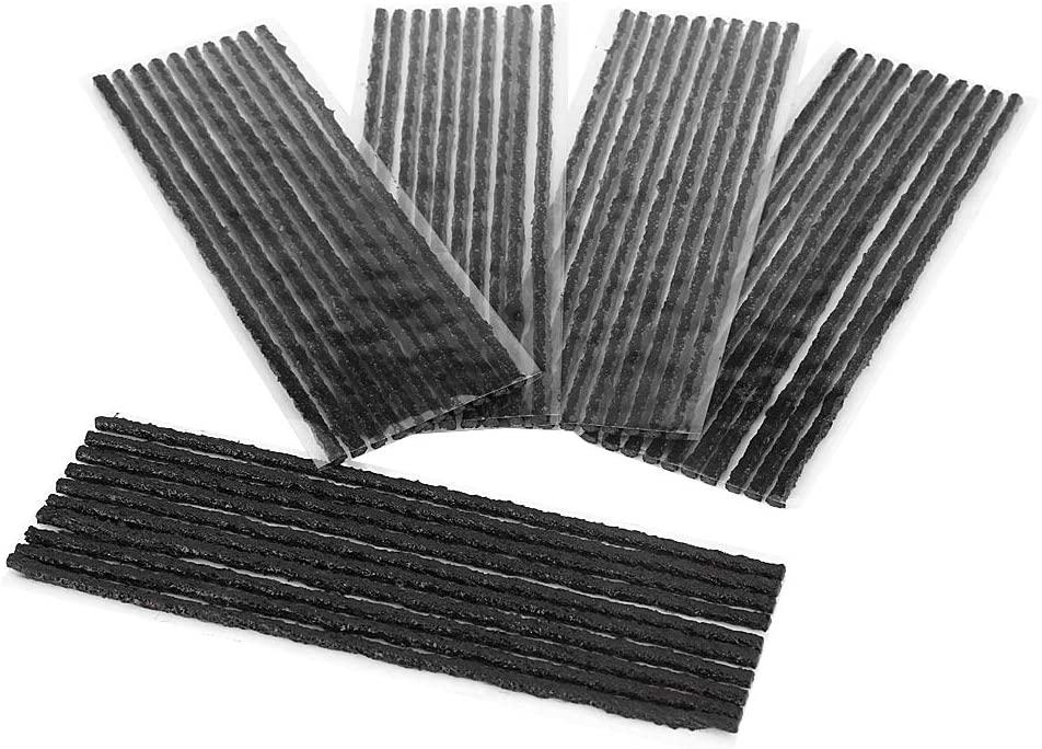 50pcs Car Tyre Repair Strings Black Tubeless Tyre Tire Puncture Repair Seal Rubber Strips Car Motorcycle 2003.5mm