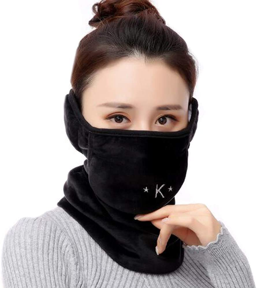 3 in 1 Mouth Face Mask Neck Cover Winter Face Mask Mouth Masks with Earmuffs Neck Warmer Scarf