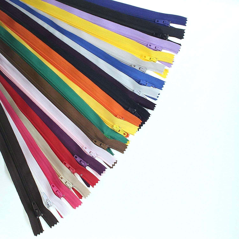 80pcs 12 Inch (30cm) Nylon Coil Zippers for Sewing Multicolored Zipper Tailor Crafts Nylon Zippers Bulk 20 Colors (12 80pcs)