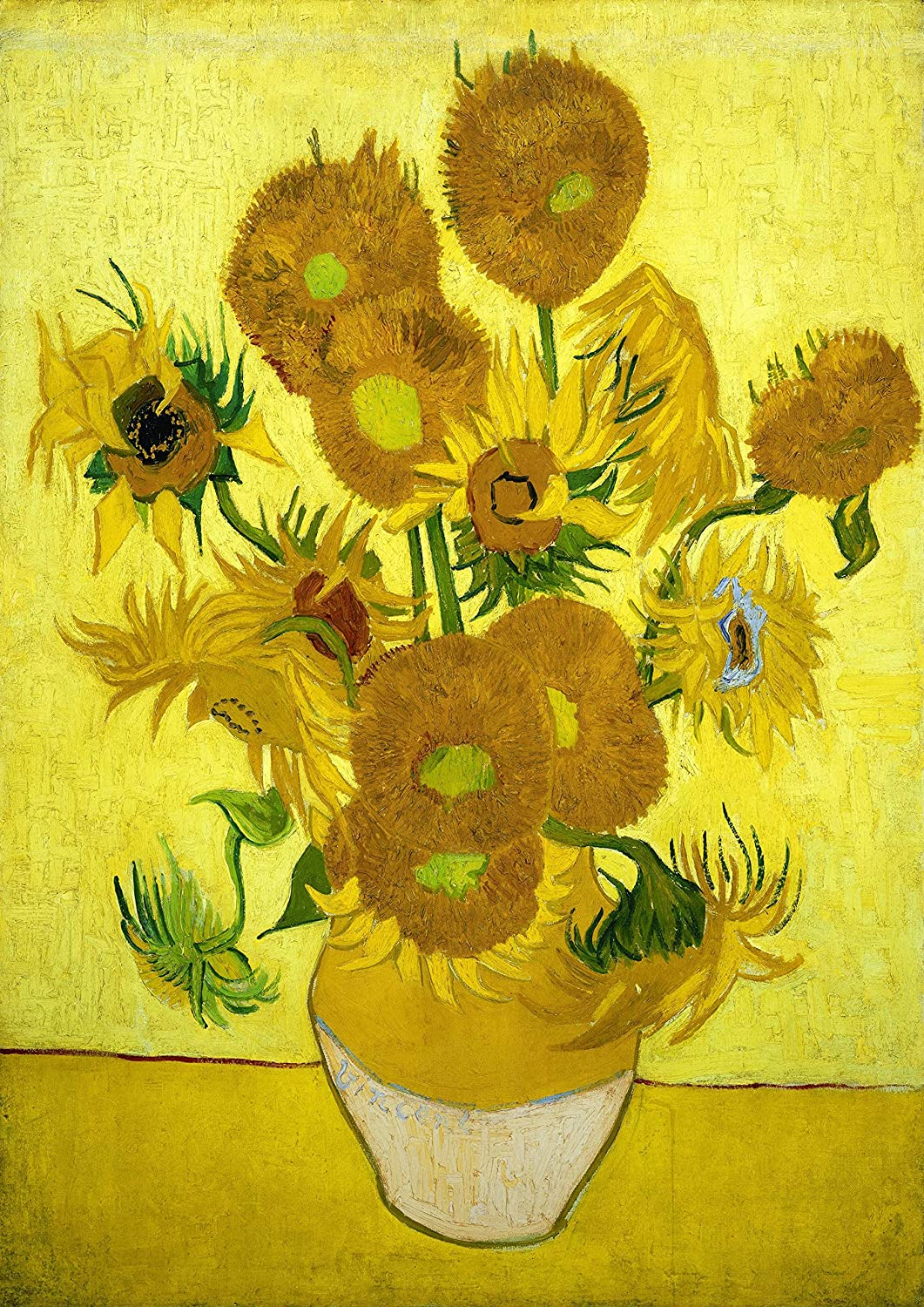 "【Made in Japan】 Poster Vincent Van Gogh ""Still Life Vase with Fourteen Sunflowers""16.53inch×23.38inch(A2)<fine Art Paper Print>Print on a Thick Sheet of Paper Painting Wall Art"