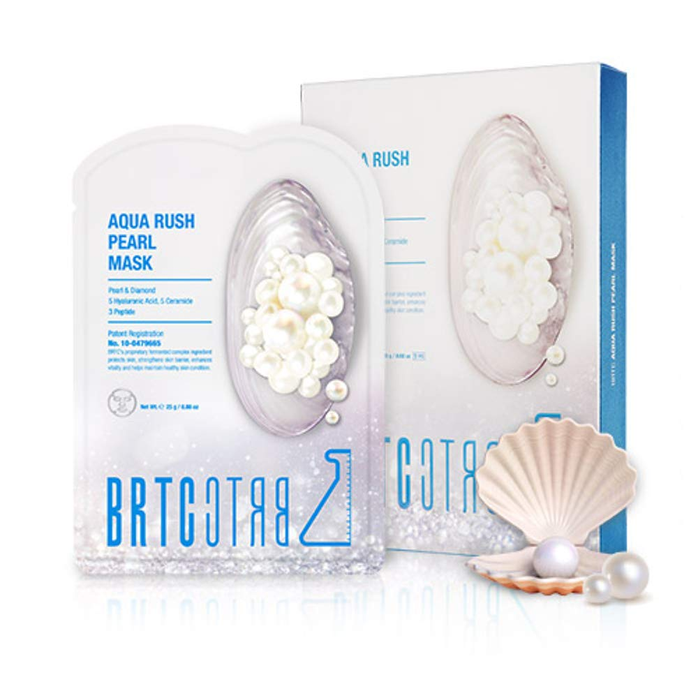 BRTC Aqua Rush Pearl Mask (Pack of 5) with REAL pearl extract, 25g