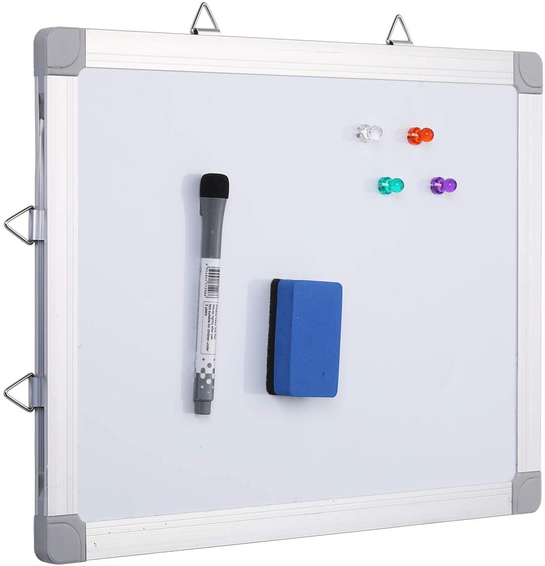 Small Dry Erase Board, 16 x 12 inch, Double-Sided, Hanging Small Magnetic Whiteboard for Wall Reminder Message Board with Dry Erase Marker/Eraser for Kids, Home, Office, School by Aelfox