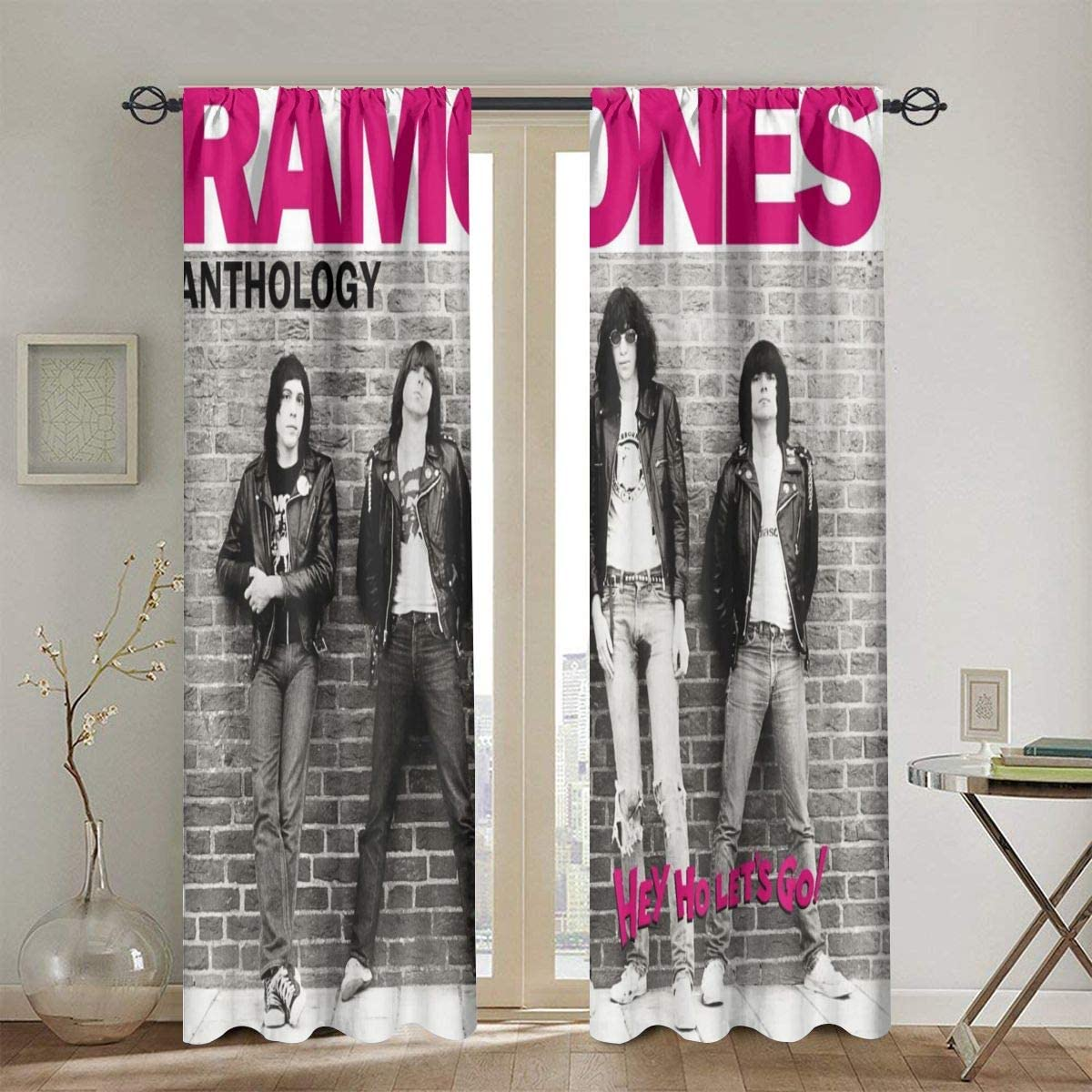 Ramones Insulated Curtains, Blackout Curtains, Curtain 2 Panels 52 X 84 in