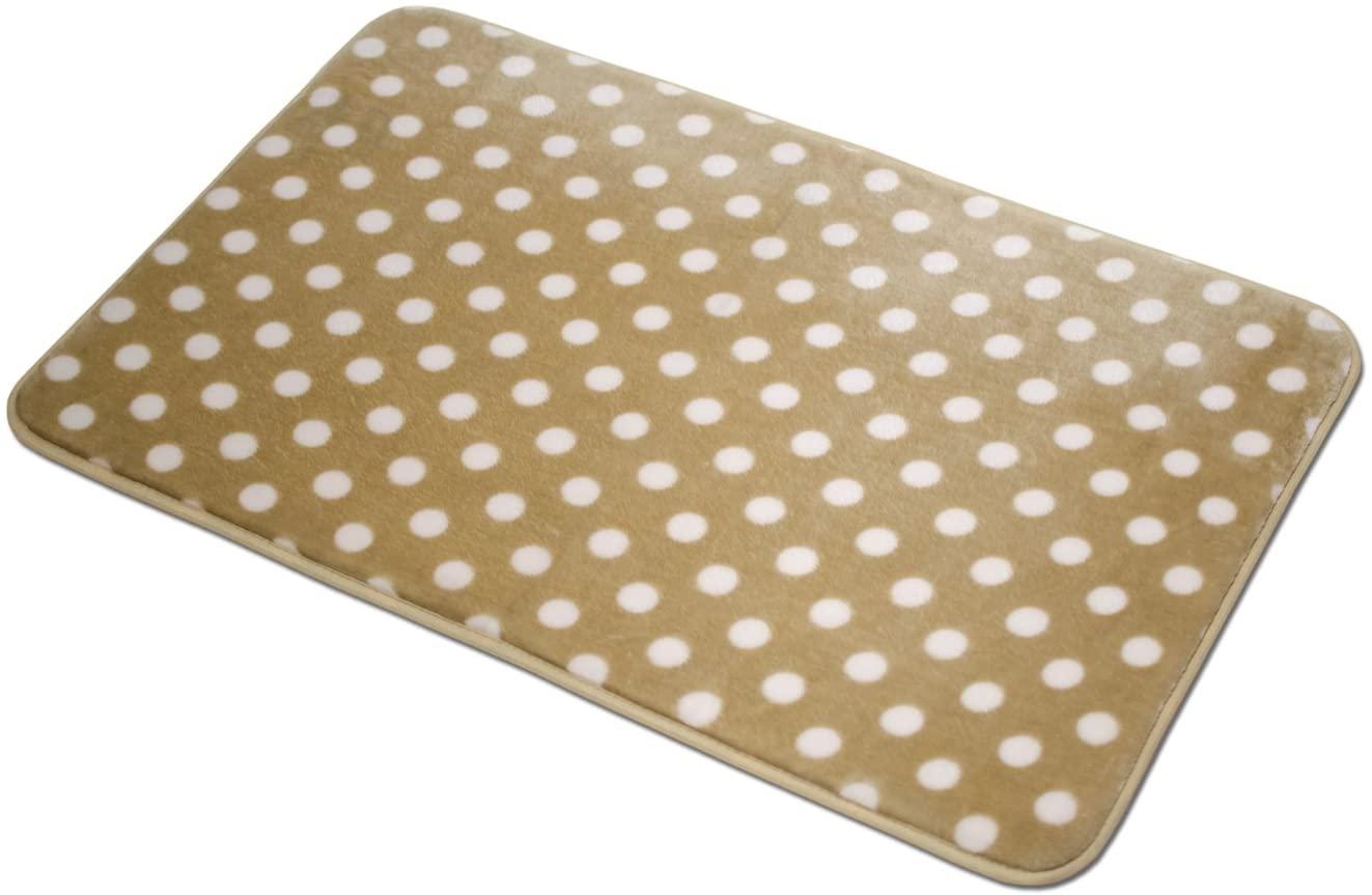 Non Slip Absorbent Microfiber Polka Dot Rug, Soft Plush Lightweight Decorative Bathroom Mat, 20