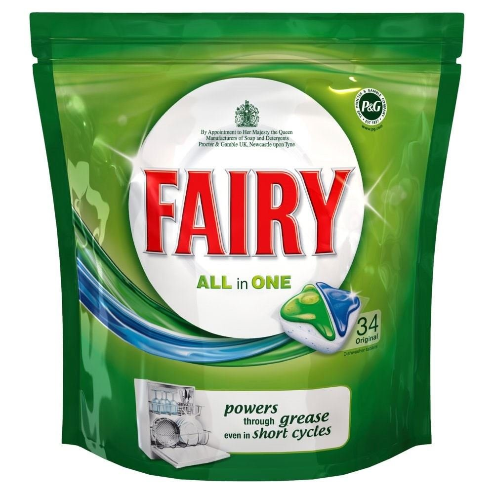 Fairy All in 1 Dishwasher Tablets Original (34)