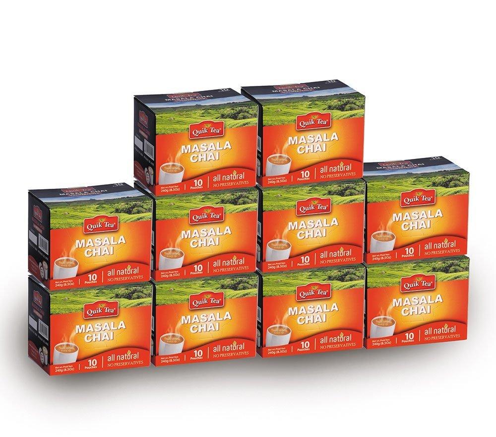 Chai Tea Latte - Masala Chai Tea 100 Latte Tea Pouches By QuikTea