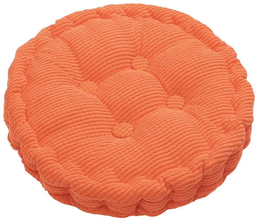 Outdoor Round Seat Cushions EPE Cotton Filled Boosted Cushion Indoor Chair Cushions for Home Office Kitchen (Diameter17.72 inch)