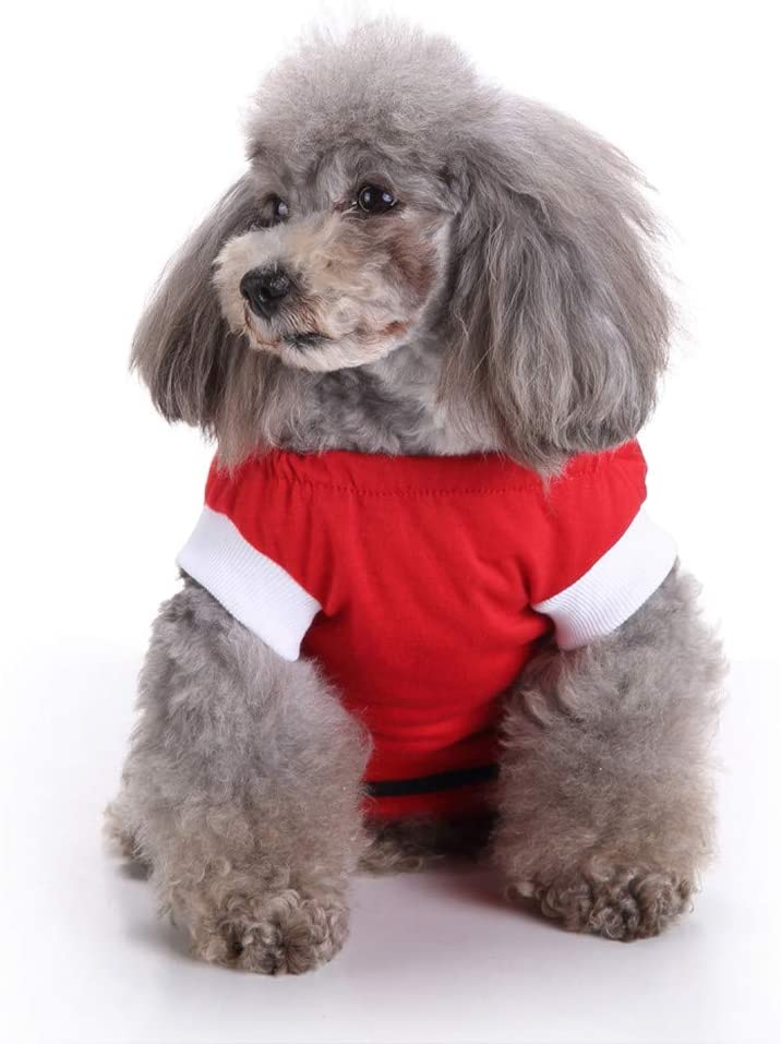 Beclgo Pet Clothes for Small Dog Cat Dog Pajamas Puppy Clothes Dog Jumpsuit Soft and Warm Pet Pajamas Jumpsuits Clothes for Small Dogs and Cats (S,Red)