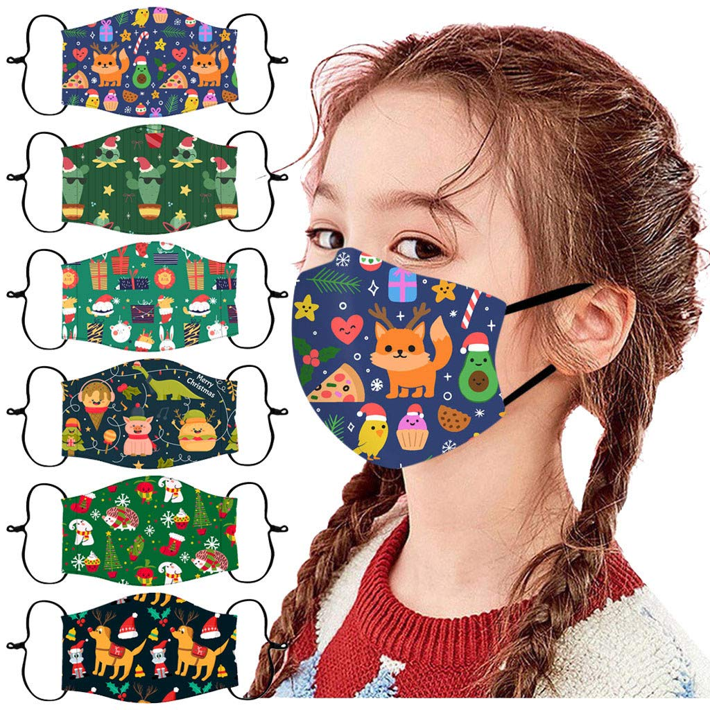 Christian Gifts!6PCS Kids Washable and Reusable Cotton Warm Face Protection for Outdoor Christian Facial Decorations