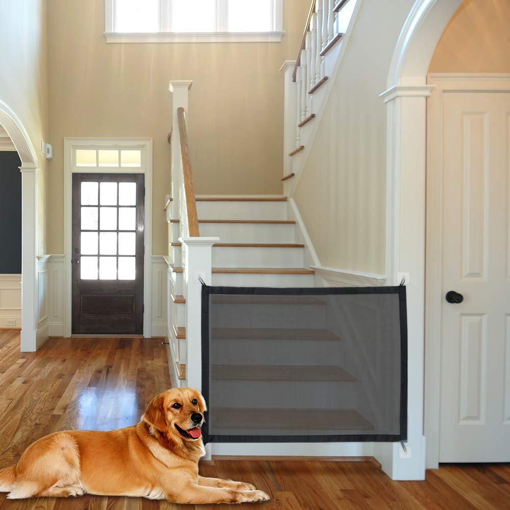 APARK Portable Folding Safe Enclosure Easy Install Anywhere, Dog Gate Indoor for Doors Folding Safe Guard for Pet Gate Tall Extra Wide