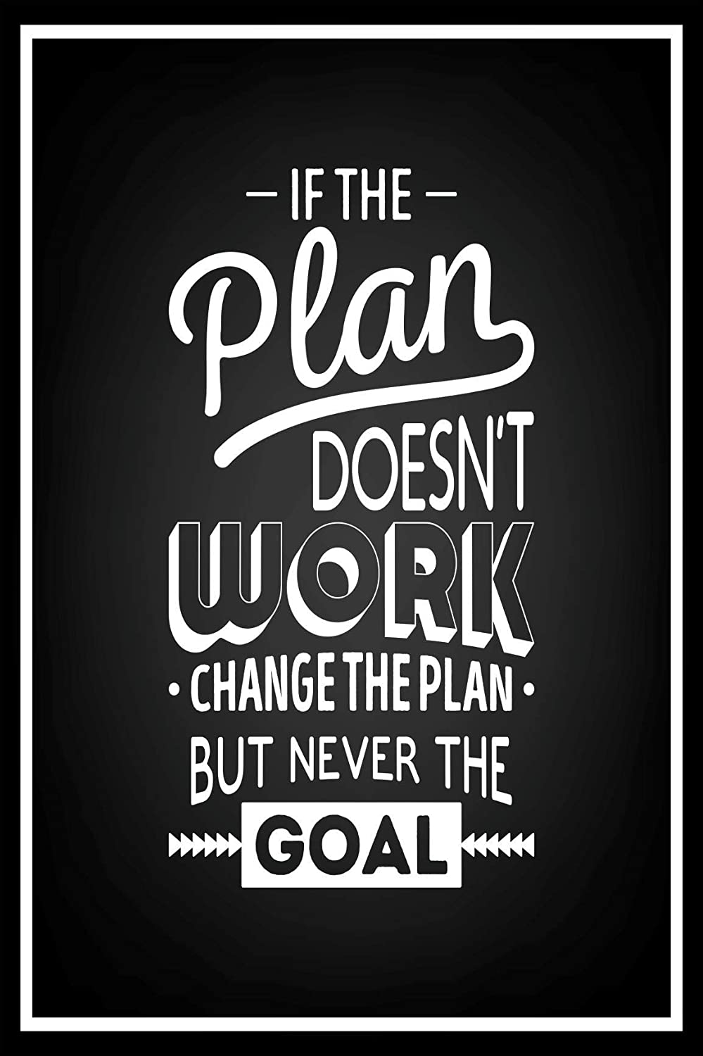 Boomeks - Motivational Quotes, Typographical Background Posters - Poster Printing - Wall Art Print for Home Office Decor - Plan - 32X48 inches