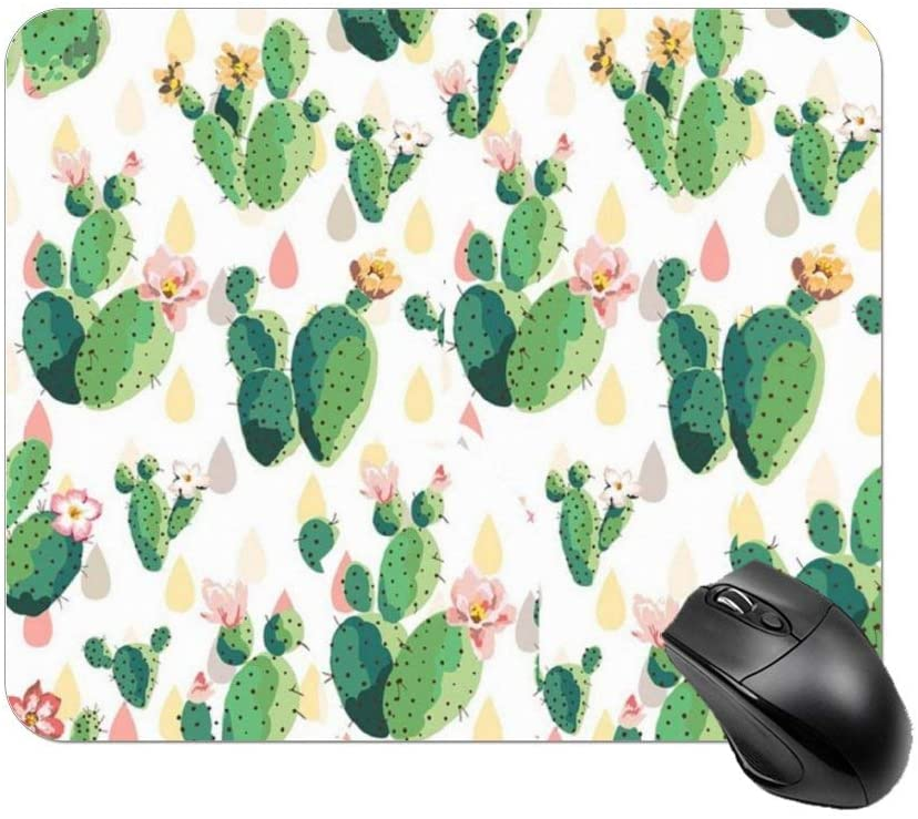 NiYoung Mouse pad Customized Mousepad Non-Slip Rubber Base Mouse Pads for Computers Laptop Office Desk Accessories Cactus Flowers Floral Mouse pad