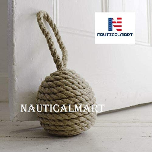 Nautical Door Stopper Decorative Design Rope Knot 10 Inches