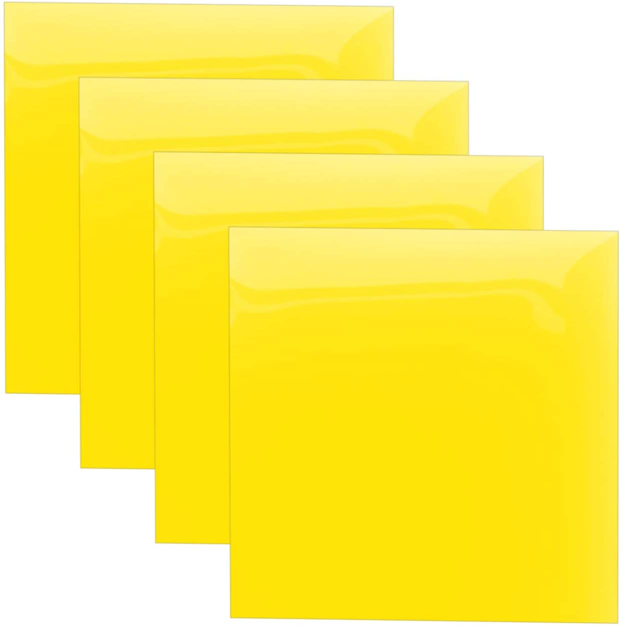 Yellow Heat Transfer Vinyl Sheets, HTV Vinyl Bundle Iron on for T Shirts, Fabric, Clothing - 12 x 12 - 4 Pcs for Cricut, Silhouette Cameo and Other Cutter Machines