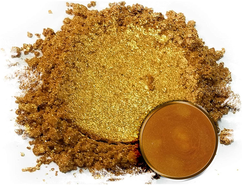 "Eye Candy Mica Powder Pigment ""Ora Gold"" (25g) Multipurpose DIY Arts and Crafts Additive   Natural Bath Bombs, Paint, Soap, Nail Polish, Lip Balm (Ora Gold, 25G)"