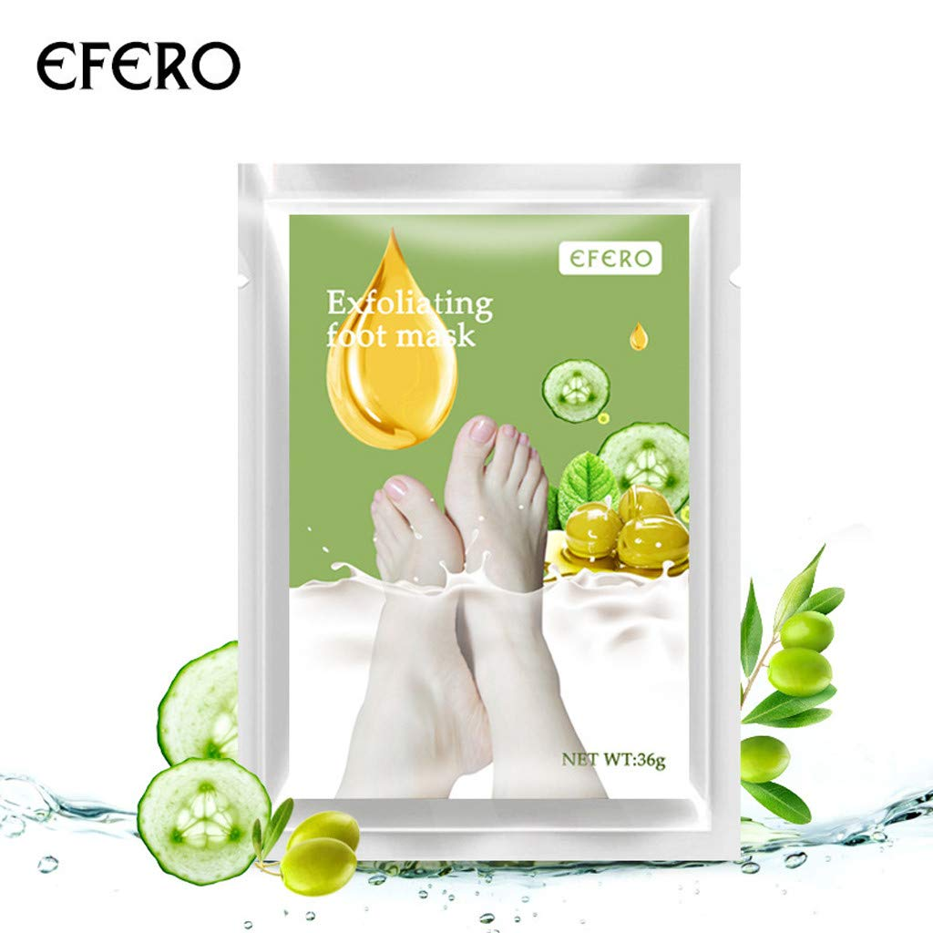 EFERO Foot Mask Exfoliating Whitening Peeling Foot Mask Socks Feet Mask Hand Hydration Gloves and Foot Hydration Deep Moisturizing For Smooth Baby Soft Feet 10 pieces