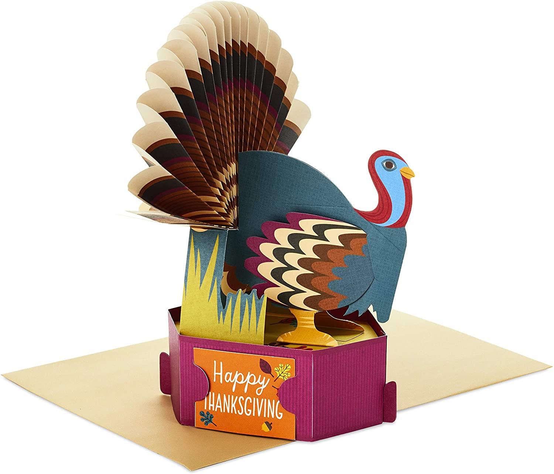 Hallmark Paper Wonder Thanksgiving Pop Up Card (Turkey)
