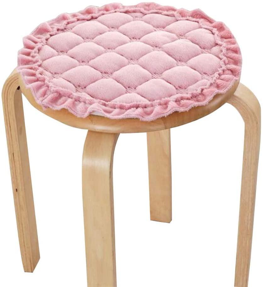 Black Temptation [Pink] Plush Round Stool Cover Stool Cushion Bar Stool Mat Seat Pad