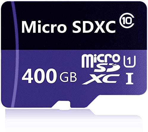 400GB Micro SD Card Class 10 High Speed Memory Card for Phone, Tablet and PCs with Adapter (400GB)