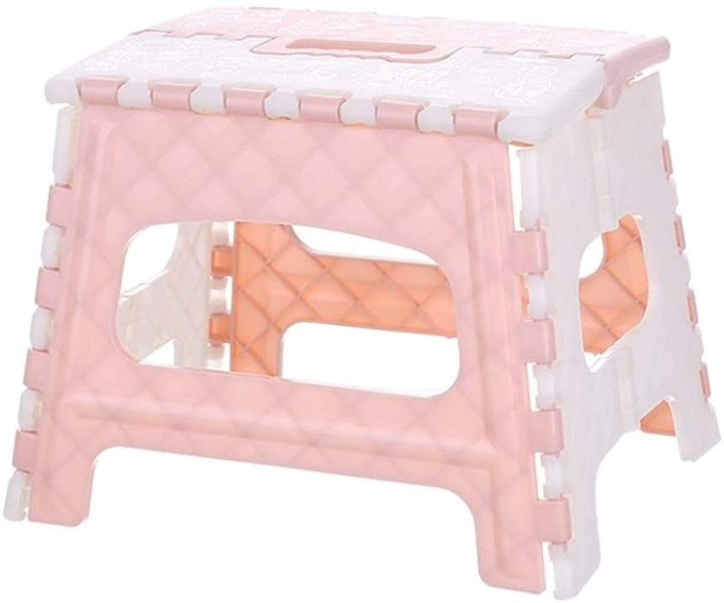 Non Slip Folding Step Stool - Portable Footstool for Kids Toddlers Adults Outdoor Camping Chair Foldable Stepladders Step Stool for Kitchen, Bathroom, Bedroom (Pink,9inches)