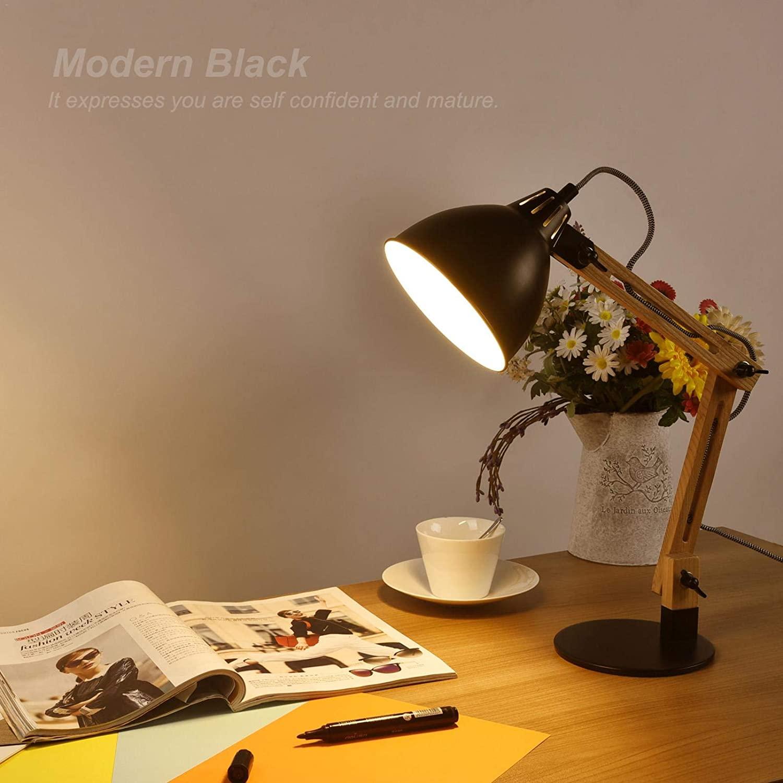 Floor Lamp,Tripod Floor Lamp Mid Century Modern Standing Light,Wood Floor Reading Lamp for Living Room, Bedroom, Study Room and Office