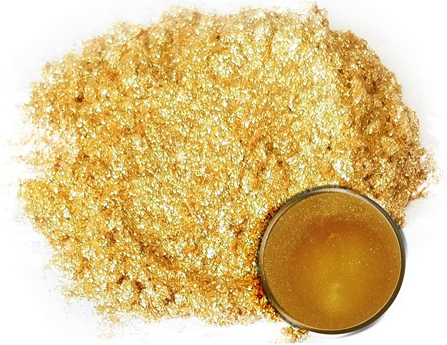 "Eye Candy Mica Powder Pigment ""Krysanthe Gold"" (50g) Multipurpose DIY Arts and Crafts Additive 