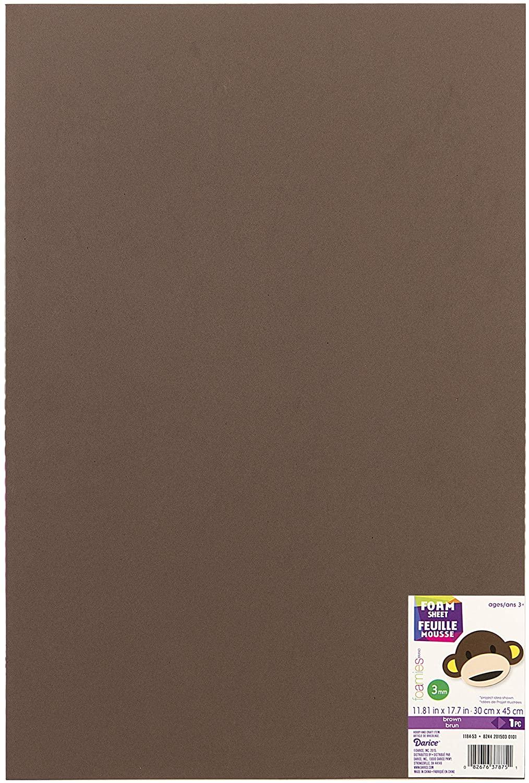 Darice 1184-53 FOAMIES Sheet Brown 3MM 30CMX45CM