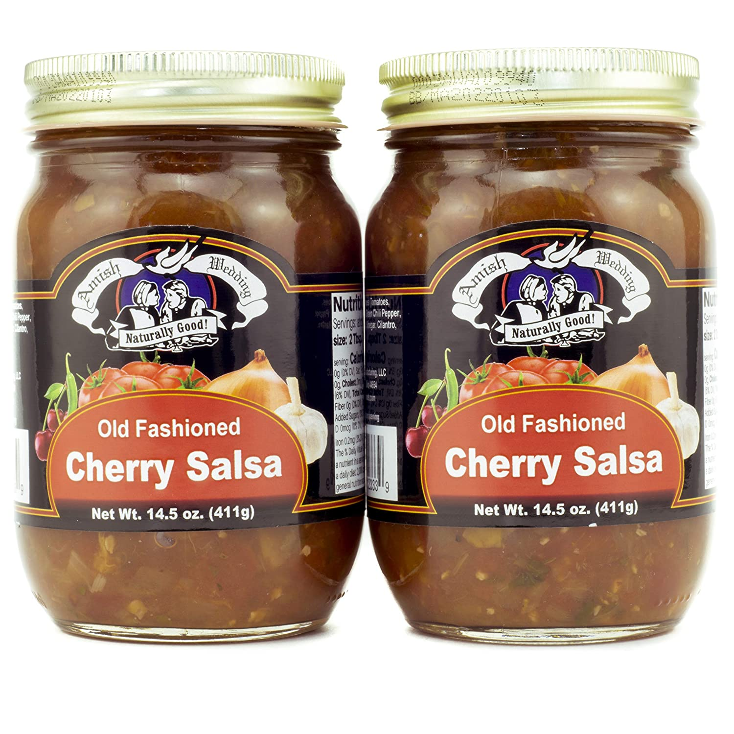 Amish Wedding Cherry Salsa 14.5 Ounces (Pack of 2)