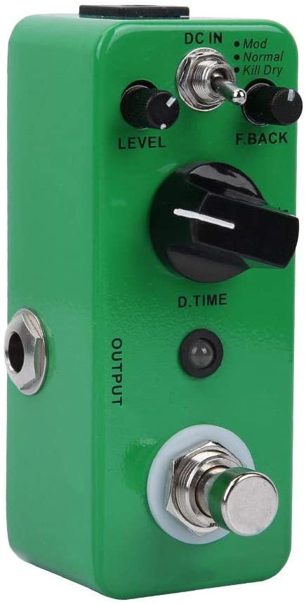 Naroote Mod/Normal/Kill Dry All-Metal Housing High Sensitivity Delay Distortion, Delay Pedal, for Musical Instrument Enthusiast